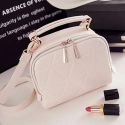 Túi đeo chéo hình vuông khóa kéo da PU PB11010335