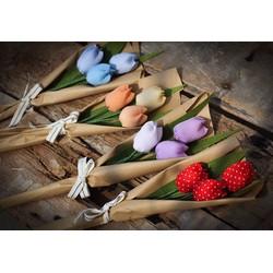 Hoa tulip vải handmade size nhỏ