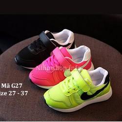 Giày thể thao cho bé 3 - 12 tuổi kiểu dáng khỏe khoắn và năng động G27