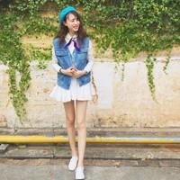 Áo khoác jeans gile streetstyle - 5940 - Hàng Nhập