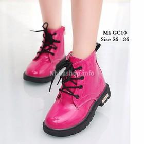 Giày cổ cao bé gái 3 - 12 tuổi GC10 hồng đậm - GC10-HONGDAM