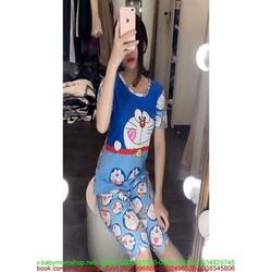 Đồ bộ mặc nhà ngắn tay hính doremon dễ thương DBTN463