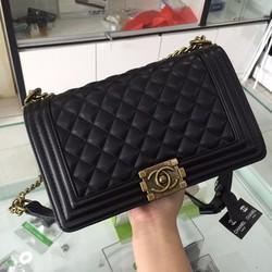 Túi Xách Chanel Boy KHóa Đồng Hàng F1 Size 25cm