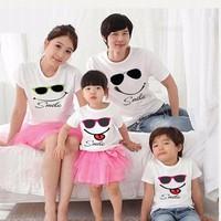 Áo gia đình mặt cười hehehe