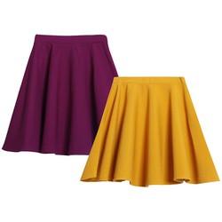 Bộ 2 Chân váy xòe xếp ly trên gối cao cấp ZENKO CS3 007 P Y
