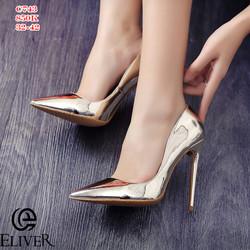 Giày cao gót mũi nhọn da bóng