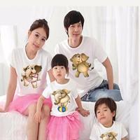 Áo gia đình chú voi dễ thương
