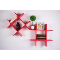 Bộ kệ gỗ K37 iLife - đỏ
