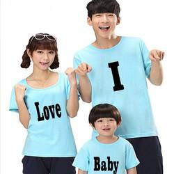 Áo gia đình i love baby dễ thương