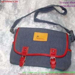 Túi đeo chéo đi học đi chơi vải jean bụi cực sành điệu TDHDC8