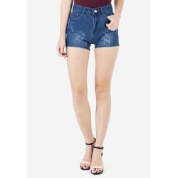 Quần Short Shorts Sooc Jeans Ngắn Cạp Lưng Cao Nữ Mài Rách ZENKO CS3