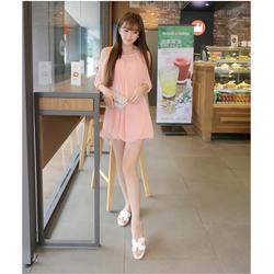 Đầm Suông Tay Lỡ Xẻ Vai Xinh Như Phương Trinh - Hồng cam