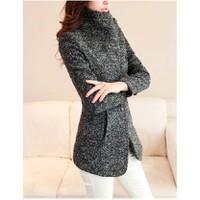 Áo khoác dạ nữ dài tay thời trang, trơn màu trẻ trung, mẫu mới-AK643