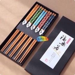 Bộ 5 đôi đũa Nhật Bản loại  1 Có hộp đựng rất sang