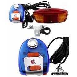 Bộ sản phẩm đèn xi nhanh, còi xe đạp YXD-4404