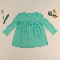 Áo váy cotton BabyGAP tay dài xinh xắn, chất liệu cotton
