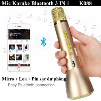 Mic Karaoke Bluetooth K088 Kèm Loa 3IN1