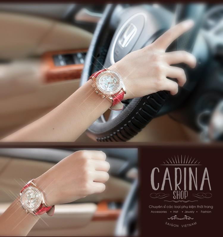 Đồng hồ thời trang đính hạt xinh xắn 5