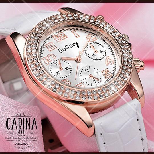 Đồng hồ thời trang đính hạt xinh xắn 9