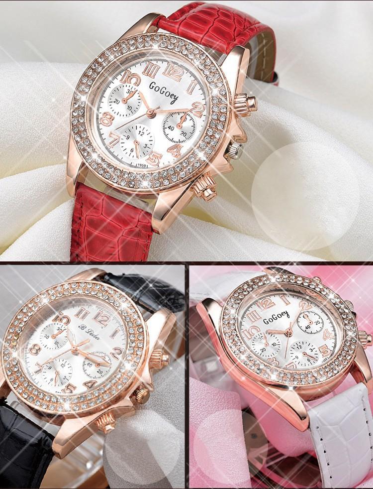 Đồng hồ thời trang đính hạt xinh xắn 2