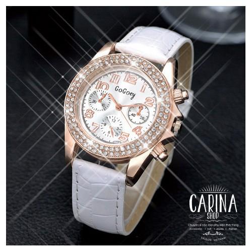 Đồng hồ thời trang đính hạt xinh xắn 4