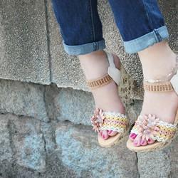Giày nữ đế xuồng in hoa cao cấp cực xinh giá cực mềm