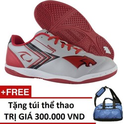 Giày Pan Thái Lan Power IC Bạc Đỏ Tặng túi thể thao cao cấp