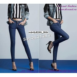 Quần jean nữ hotgirl lưng cao 1 nút form chuẩn đẹp QJE269