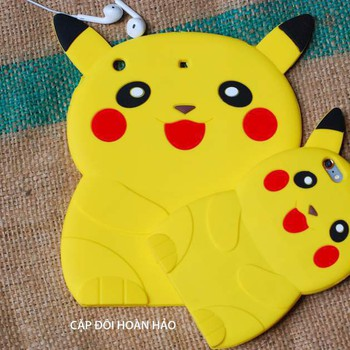ỐP THÚ NỔI POKEMON 3D IPAD mini2,3,4, ipad 2,3,4, ipad air1,2