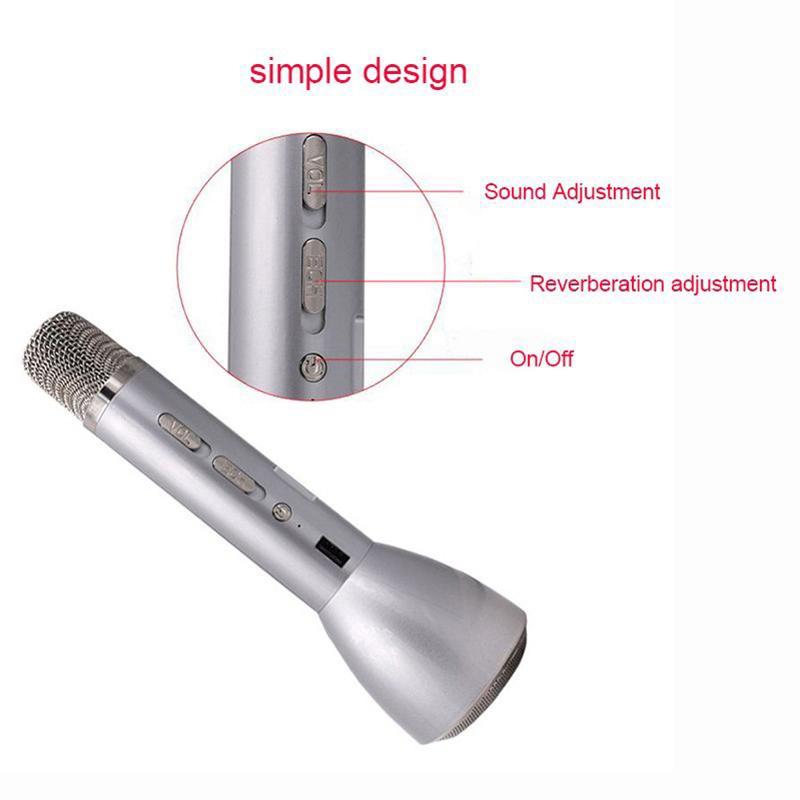 Mic Karaoke Bluetooth K088 Kèm Loa 3IN1 13