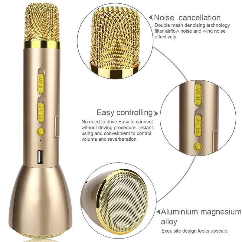 Mic Karaoke Bluetooth K088 Kèm Loa 3IN1 6