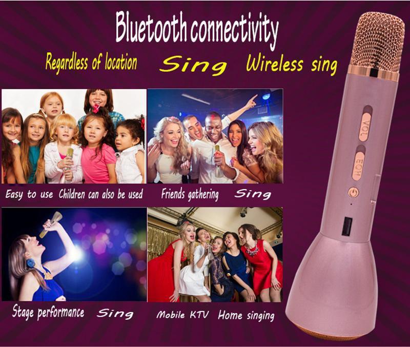 Mic Karaoke Bluetooth K088 Kèm Loa 3IN1 3