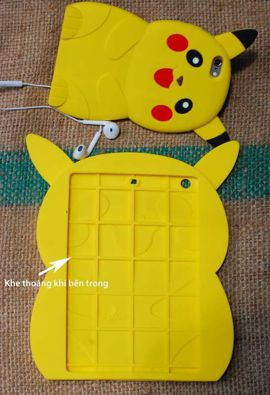 ỐP THÚ NỔI POKEMON 3D IPAD mini2,3,4, ipad 2,3,4, ipad air1,2 7