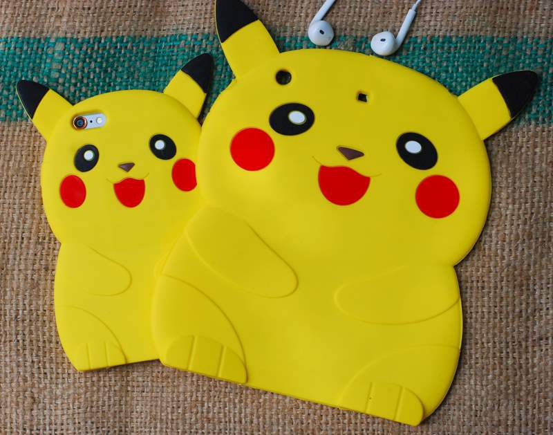 ỐP THÚ NỔI POKEMON 3D IPAD mini2,3,4, ipad 2,3,4, ipad air1,2 9