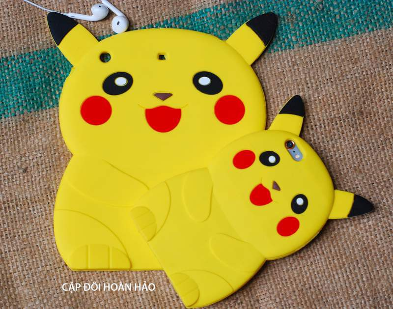 ỐP THÚ NỔI POKEMON 3D IPAD mini2,3,4, ipad 2,3,4, ipad air1,2 4