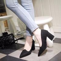 giày gót vuông thanh lịch