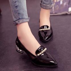Giày đế thấp viền ngọc trai cao cấp