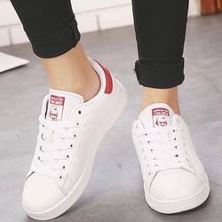 [Greenlife Shop] Giày Thể thao trắng phối gót đỏ