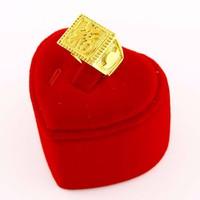 Nhẫn nam đồng thau mạ vàng 24k không phai màu