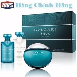 Bộ quà tặng nước hoa nam BVLGARI Aqva Pour Homme EDT 50ml