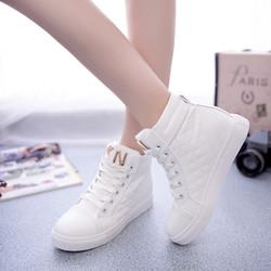 Giày sneaker nữ cao cổ phong cách Hàn Quốc TT059T