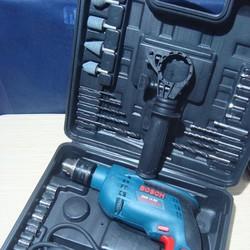 Máy khoan BOSCH GSB 13 RE + Bộ dụng cụ
