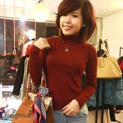 Áo len nữ cổ lọ tay dài thời trang nhiều màu