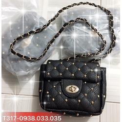 Túi đeo chéo nạm hạt nổi xinh xắn-T317