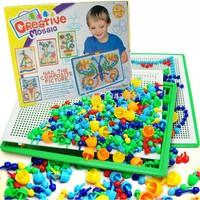 Bộ đồ chơi 296 hạt nhựa nấm xếp hình Creative Mosaic cho bé yêu