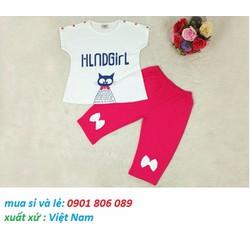 Bộ Thun Cotton Mặc Mát Cho Bé