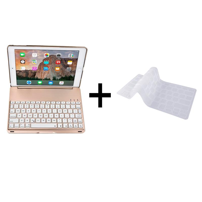 Bàn phím ốp lưng iPad Pro 9.7 vàng hồng Bluetooth 1
