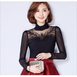 Áo kiểu phối ren thời trang cao cấp 2016 - MZ304