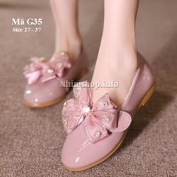 Giày công chúa G35 ánh tím xinh xắn cho bé gái 3 - 12 tuổi