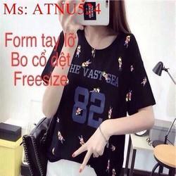 Áo thun nữ ngắn tay số 82 hình cô gái siêu dễ thương ATNU524